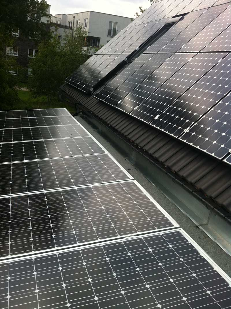 Wedler Photovoltaik Berlin Carport Bohnsdorf mit Solon