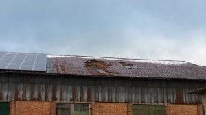 Wedler Gebäude Dachschaden