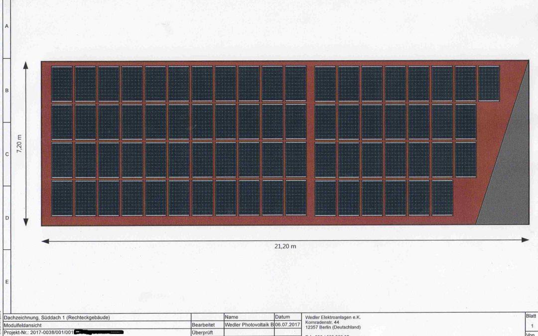 Nächste Anlage Anfang November 2017, mit 21,24 kWp IBC Modulen und Fronius in Fürstenwalde