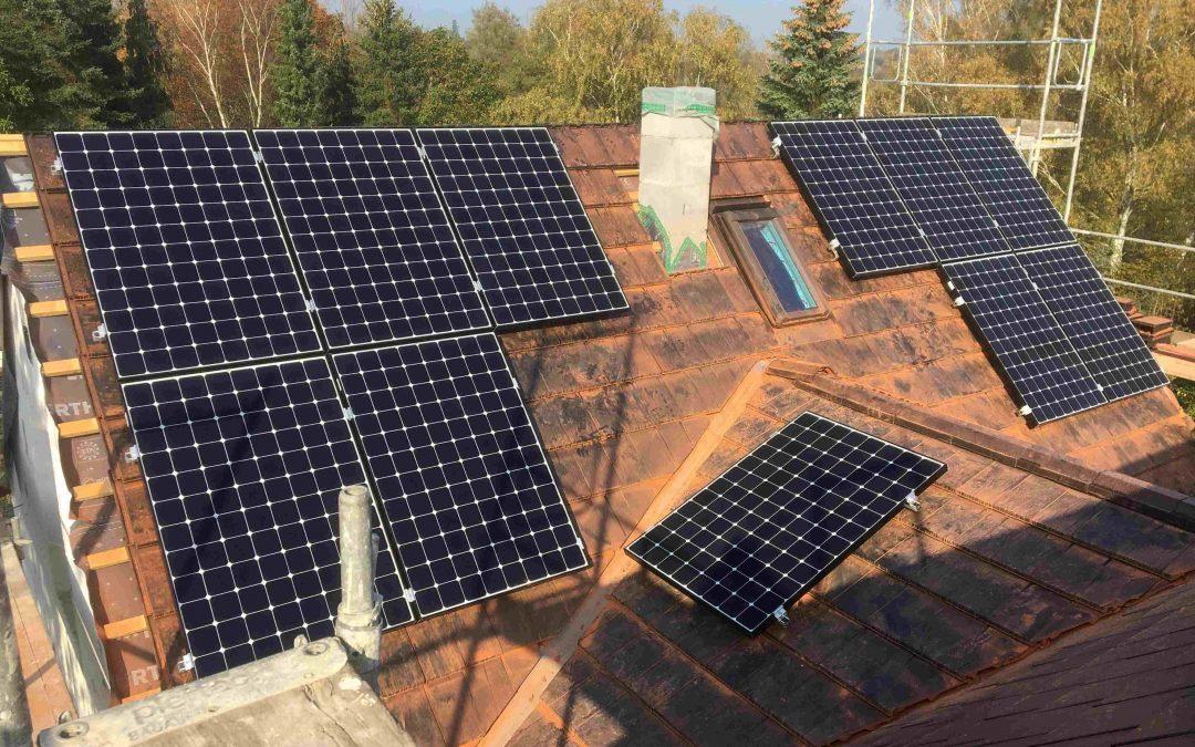 Oktober Anlage mit Solaredge Komponenten