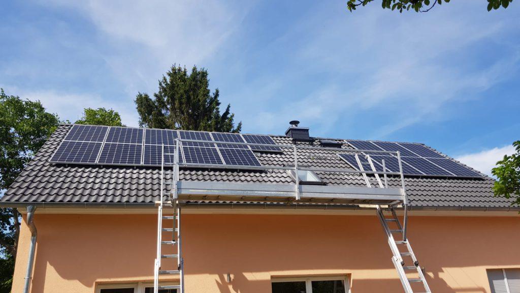 Wedler Photovoltaik Berlin, anlage im Juli 2019